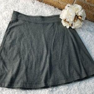 Merona Womens Small T-Shirt Stretch Skirt Gray